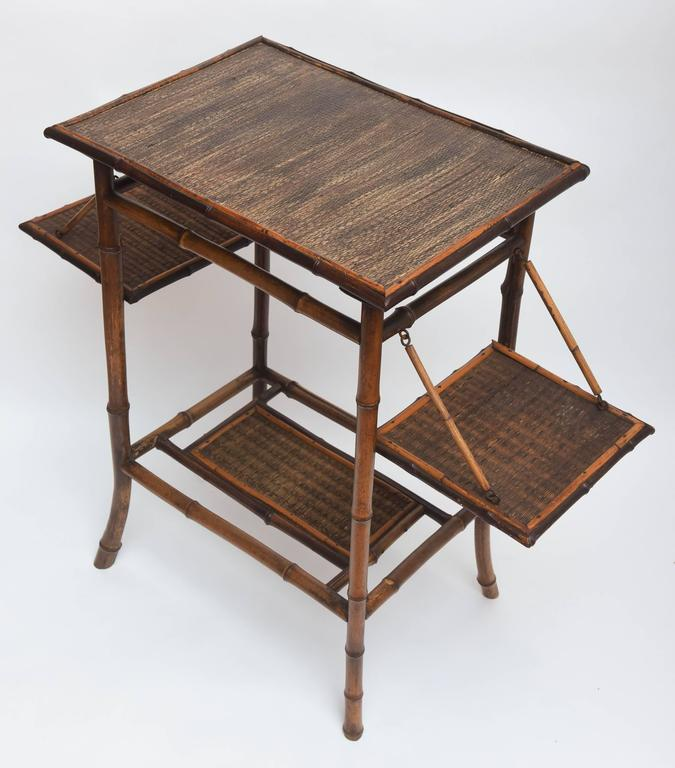 Rare 19th Century English Bamboo Tea Table Signed James Shoolbred, London For Sale 5