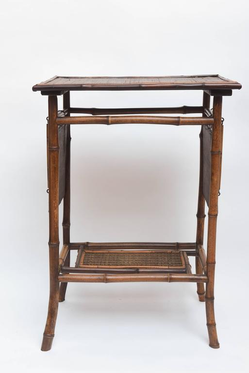 Rare 19th Century English Bamboo Tea Table Signed James Shoolbred, London For Sale 6