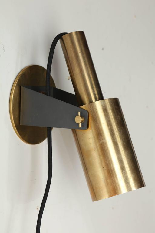 Modern Brass Wall Lamps : Pair of 1960s Italian Modern Articulating Brass Wall Sconce Reading Lamps For Sale at 1stdibs