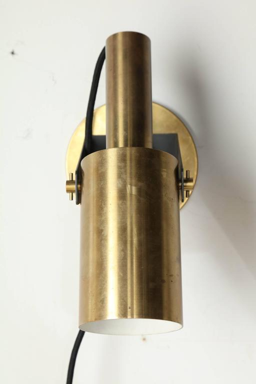 Modern Wall Sconces Italian : Pair of 1960s Italian Modern Articulating Brass Wall Sconce Reading Lamps For Sale at 1stdibs