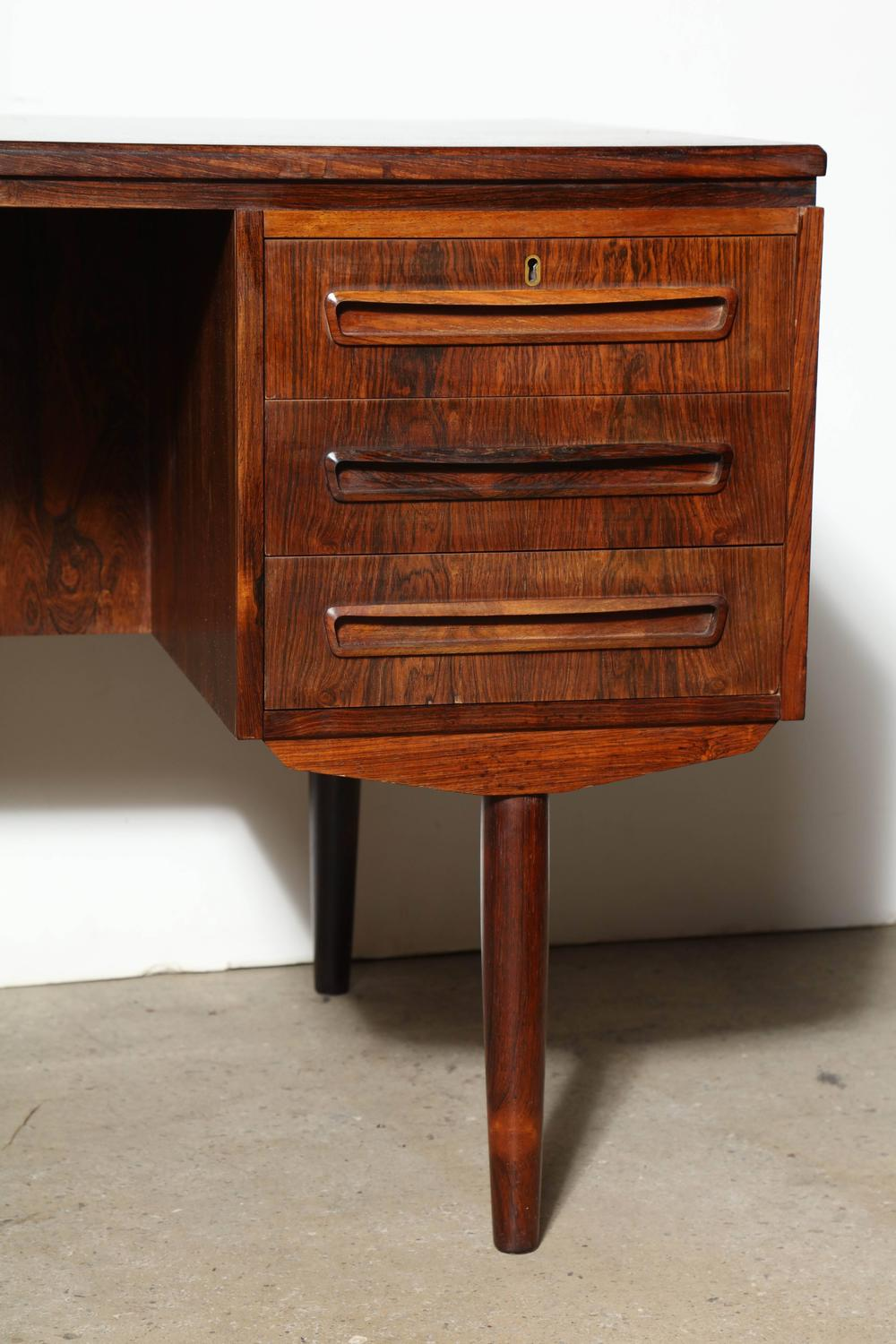 Kai Kristiansen Two Sided Rosewood Desk at 1stdibs