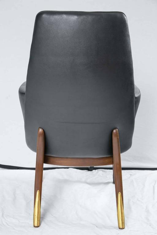 Pair Of Adrian Pearsall Style Mid Century Modern Walnut