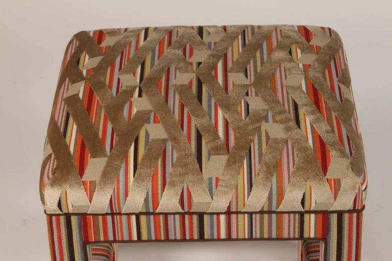 Pair of Custom Upholstered Benches For Sale 2