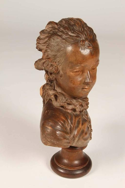 19th Century Terracotta Bust of Mozart as a Child For Sale