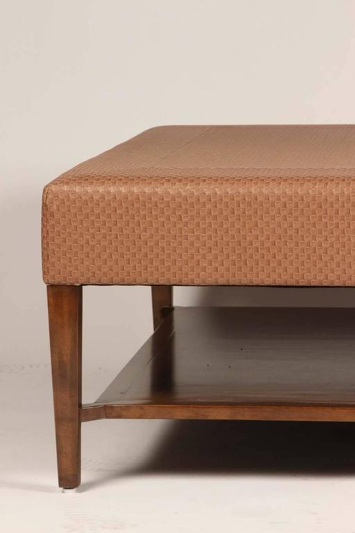 American Large-Scale Upholstered Coffee Table For Sale