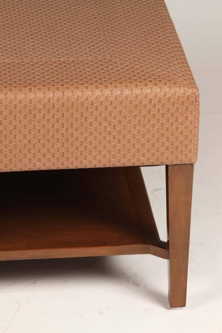 Large-Scale Upholstered Coffee Table For Sale at 1stdibs