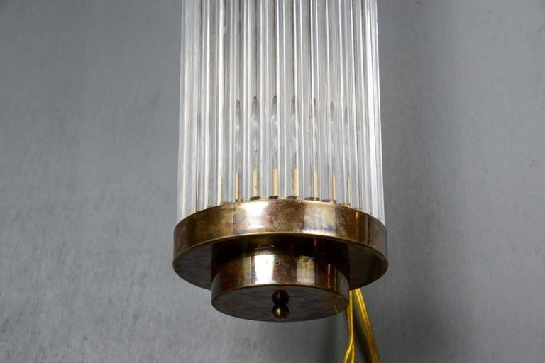 Wall Sconces Height : Set of Height Brass and Glass Rods Wall Sconces at 1stdibs
