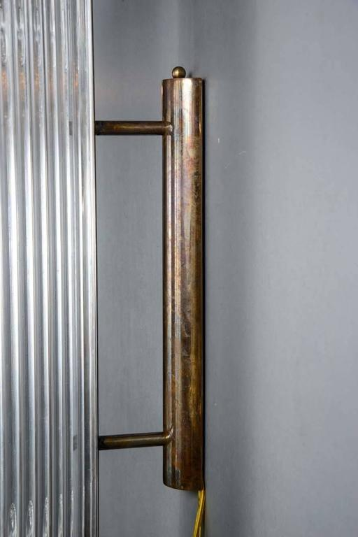 Glass Rod Wall Sconces : Set of Height Brass and Glass Rods Wall Sconces at 1stdibs