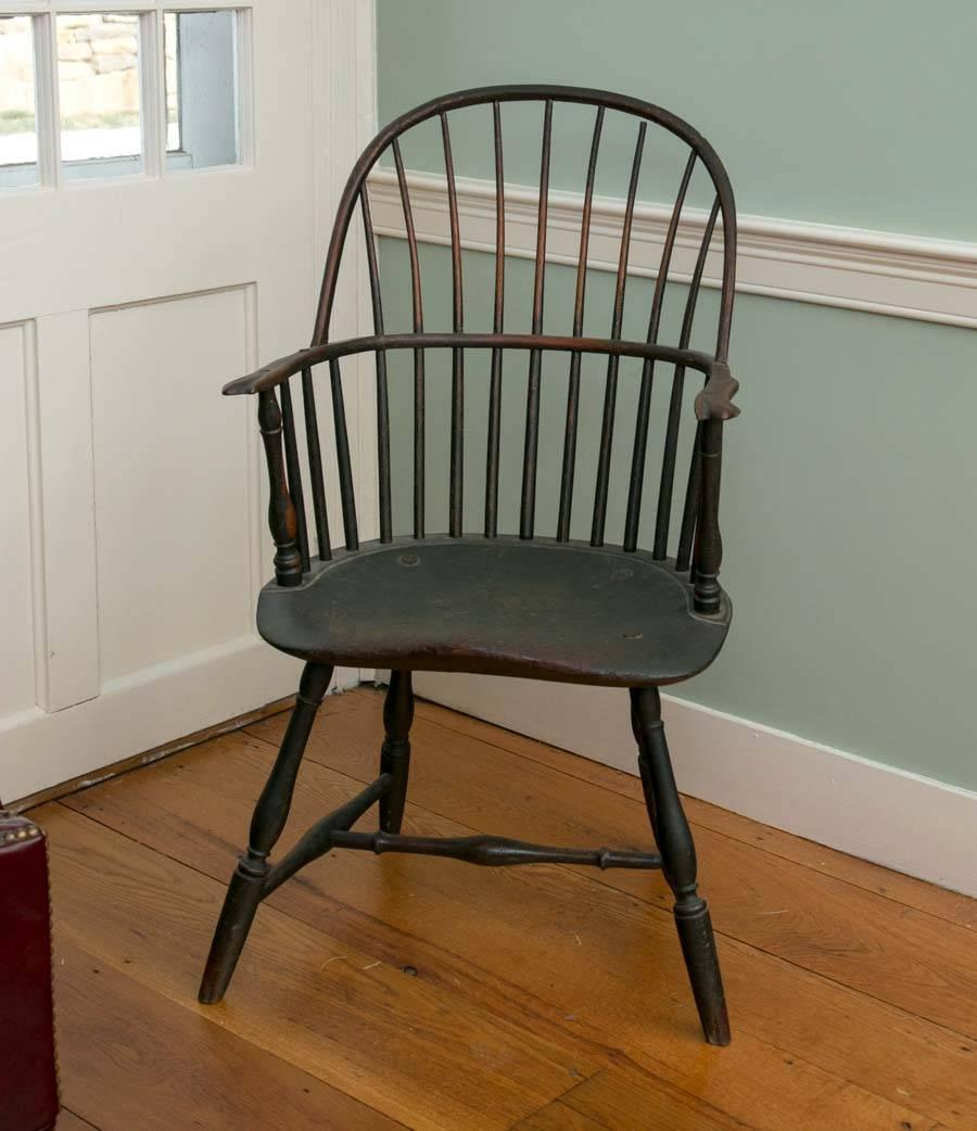 Philadelphia knuckle arm windsor chair in old green paint for Z furniture philadelphia