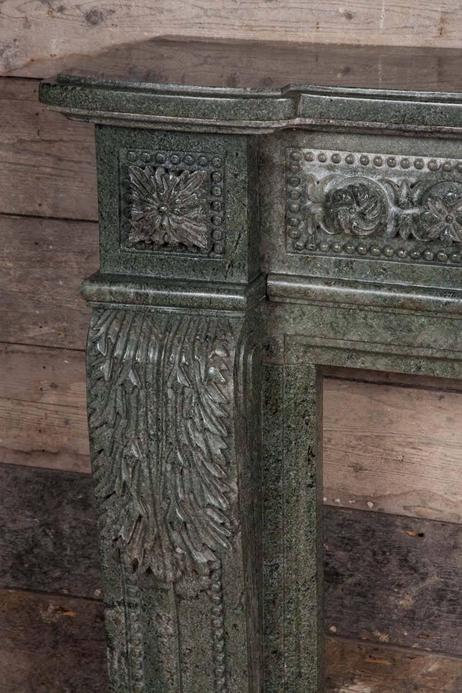 Green Granite Stone : Green granite stone louis xvi style fire surround at stdibs