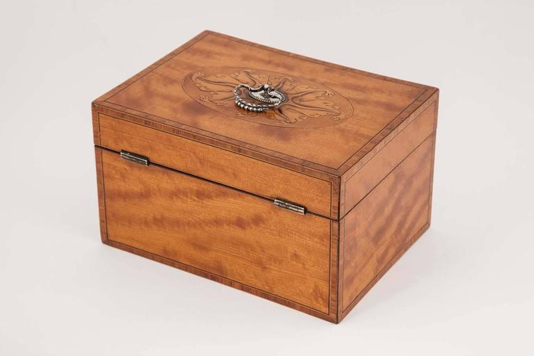 18th Century 18th century Satinwood Tea Caddy with original interior For Sale