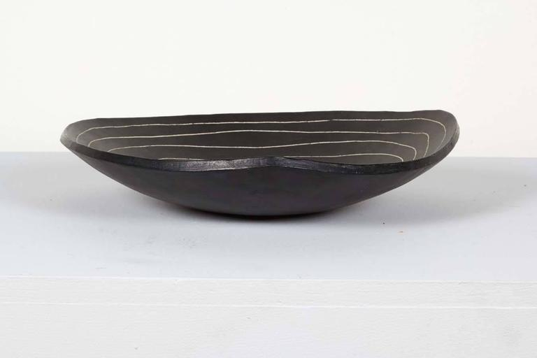 French Ceramic Bowl by Marianne Vissiere For Sale