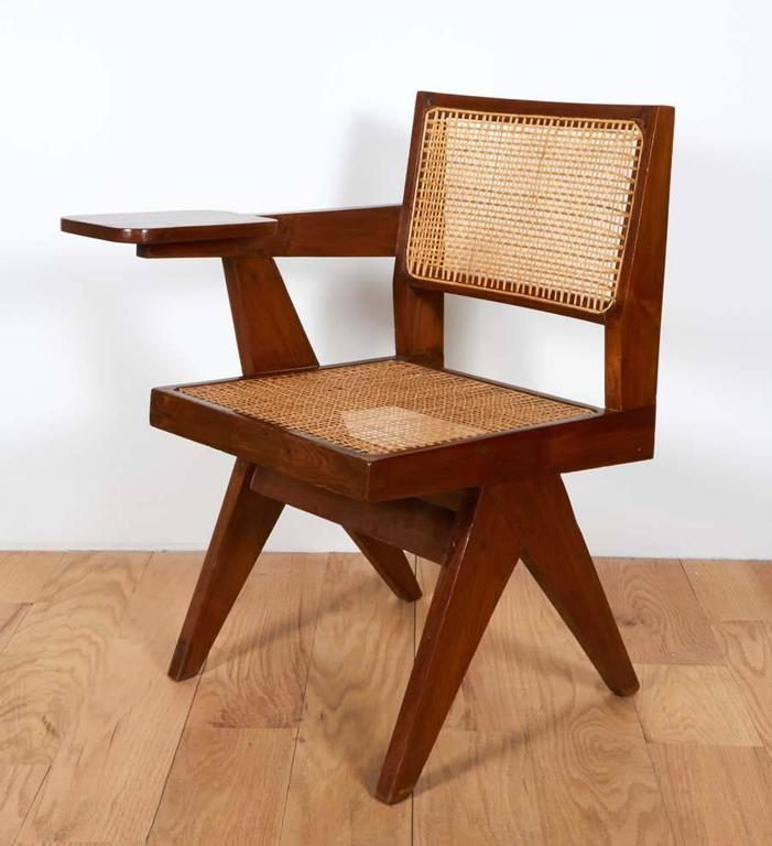 Hand-Crafted Pierre Jeanneret, Chair with Single Arm For Sale