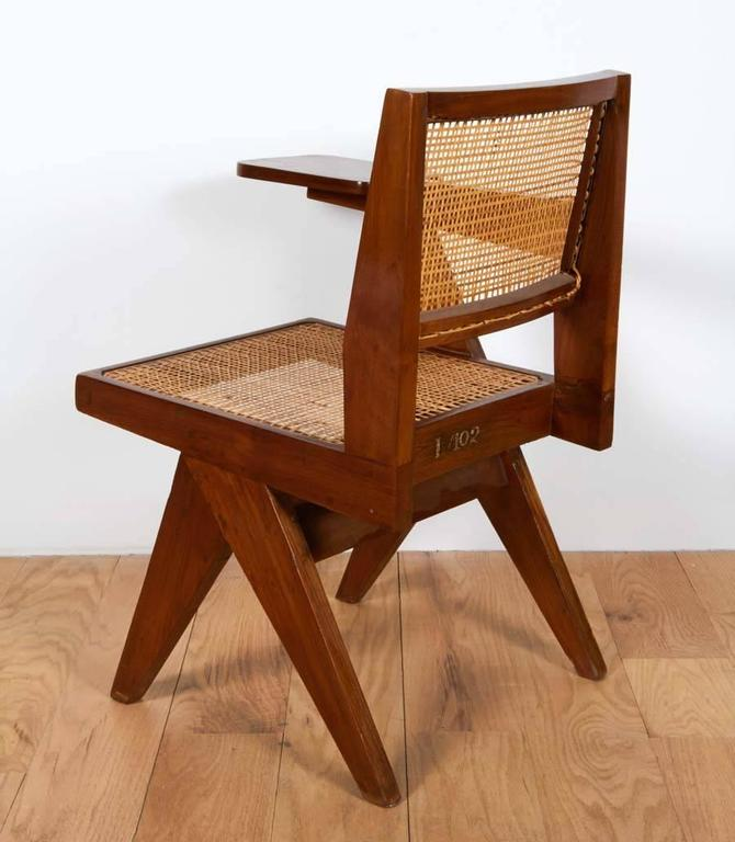 Cane Pierre Jeanneret, Chair with Single Arm For Sale