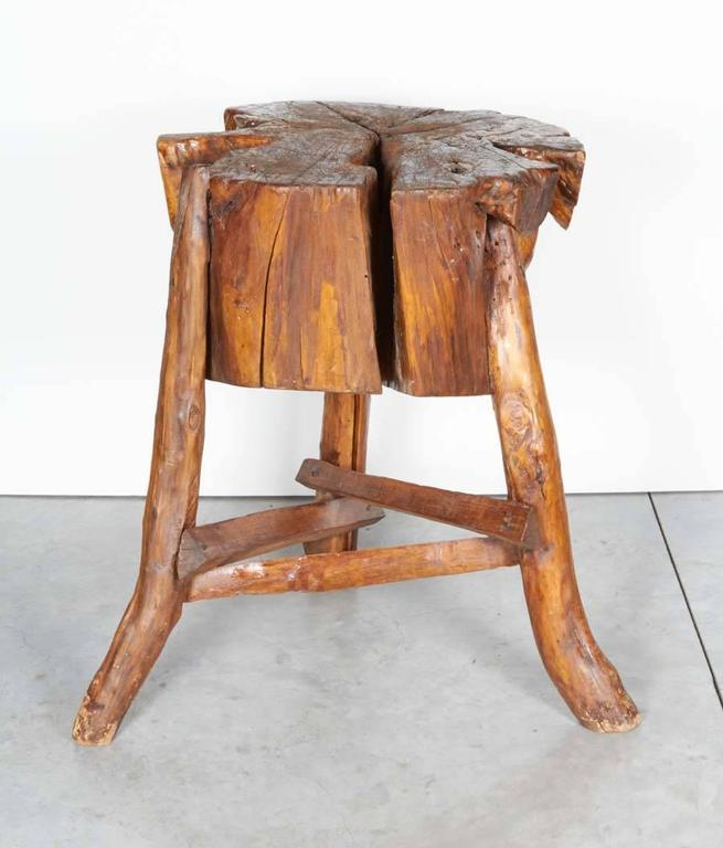 thick primitive butcher block for sale at 1stdibs