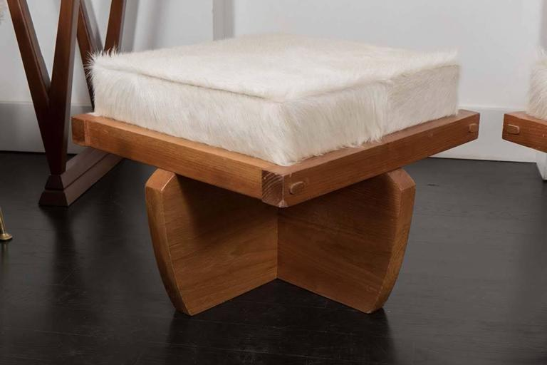 American Pair of Benches in the Style of Nakashima For Sale