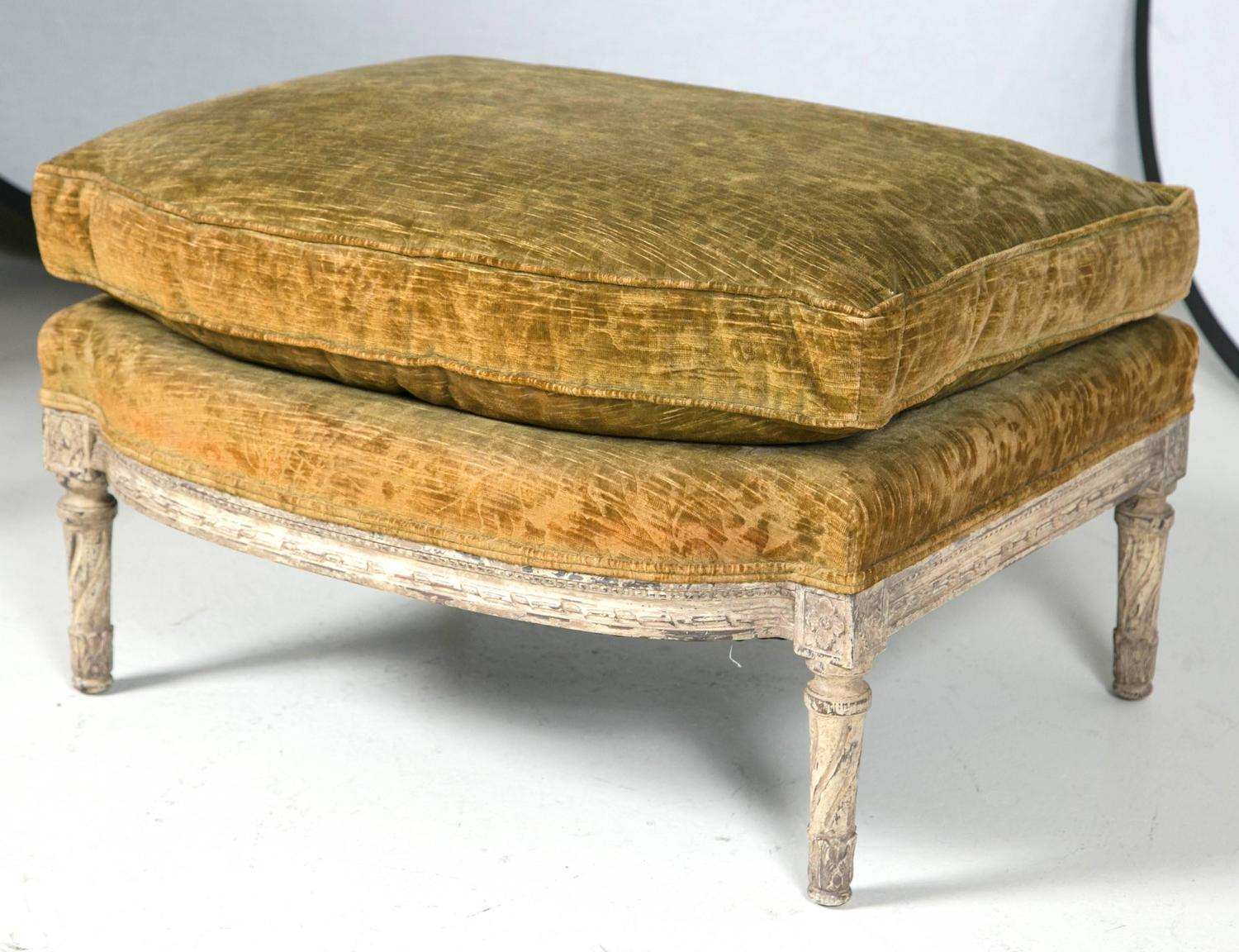 Louis Xvi Style Berg 232 Re With Matching Ottoman For Sale At