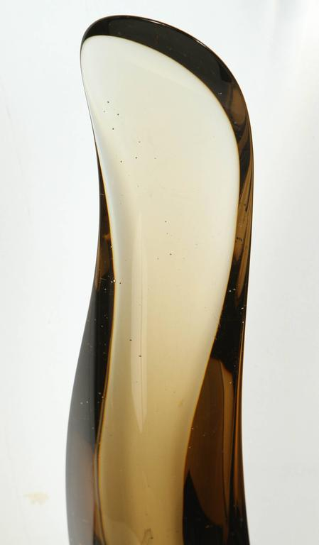 American Sleek 1970s Smoked Glass Sculpture For Sale