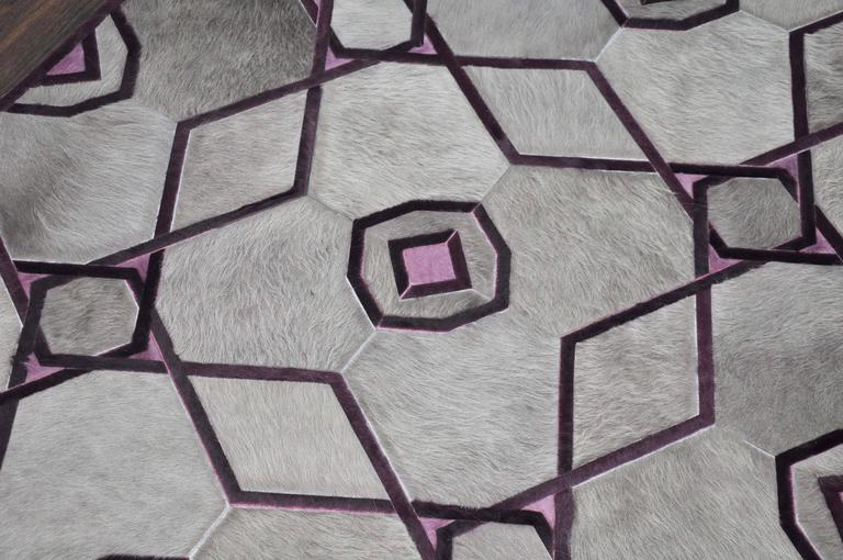 Purple Ruby And Grey Kyle Bunting Hide On Hair Rug At 1stdibs