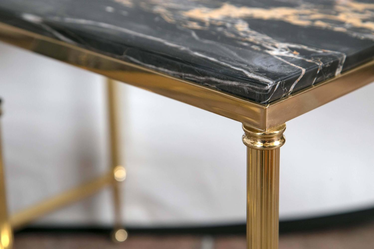 Set Of Three Bronze Nesting Tables For Sale At 1stdibs. Full resolution  portraiture, nominally Width 1500 Height 1000 pixels, portraiture with #906F3B.