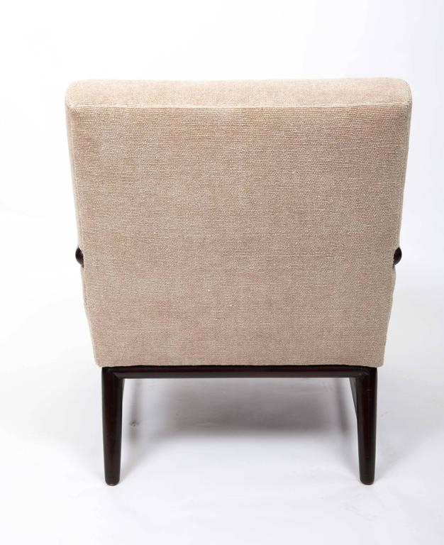 American Upholstered Armchair and Ottoman by T. H. Robsjohn-Gibbings For Sale
