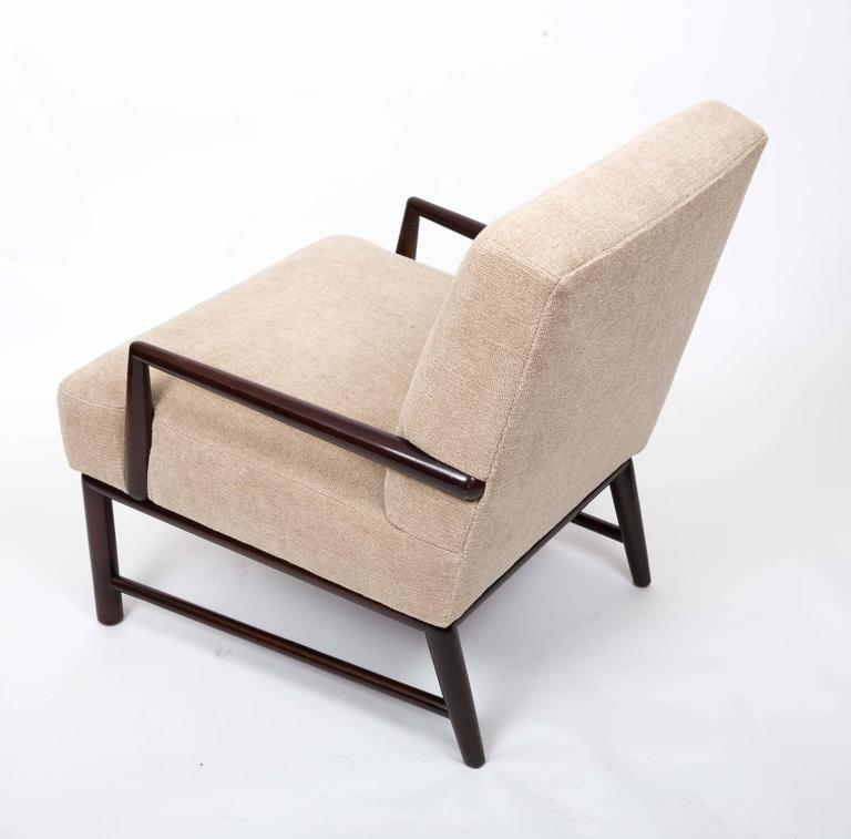 Upholstered Armchair and Ottoman by T. H. Robsjohn-Gibbings In Excellent Condition For Sale In New York City, NY