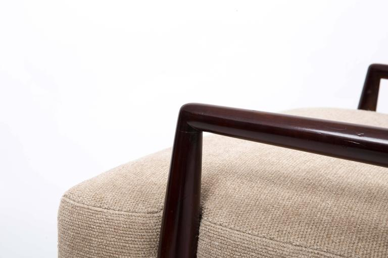 Mid-20th Century Upholstered Armchair and Ottoman by T. H. Robsjohn-Gibbings For Sale