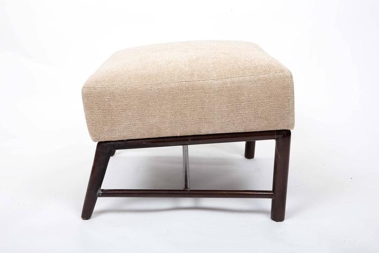 Upholstered Armchair and Ottoman by T. H. Robsjohn-Gibbings For Sale 2
