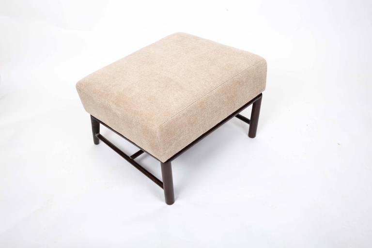 Upholstered Armchair and Ottoman by T. H. Robsjohn-Gibbings For Sale 4