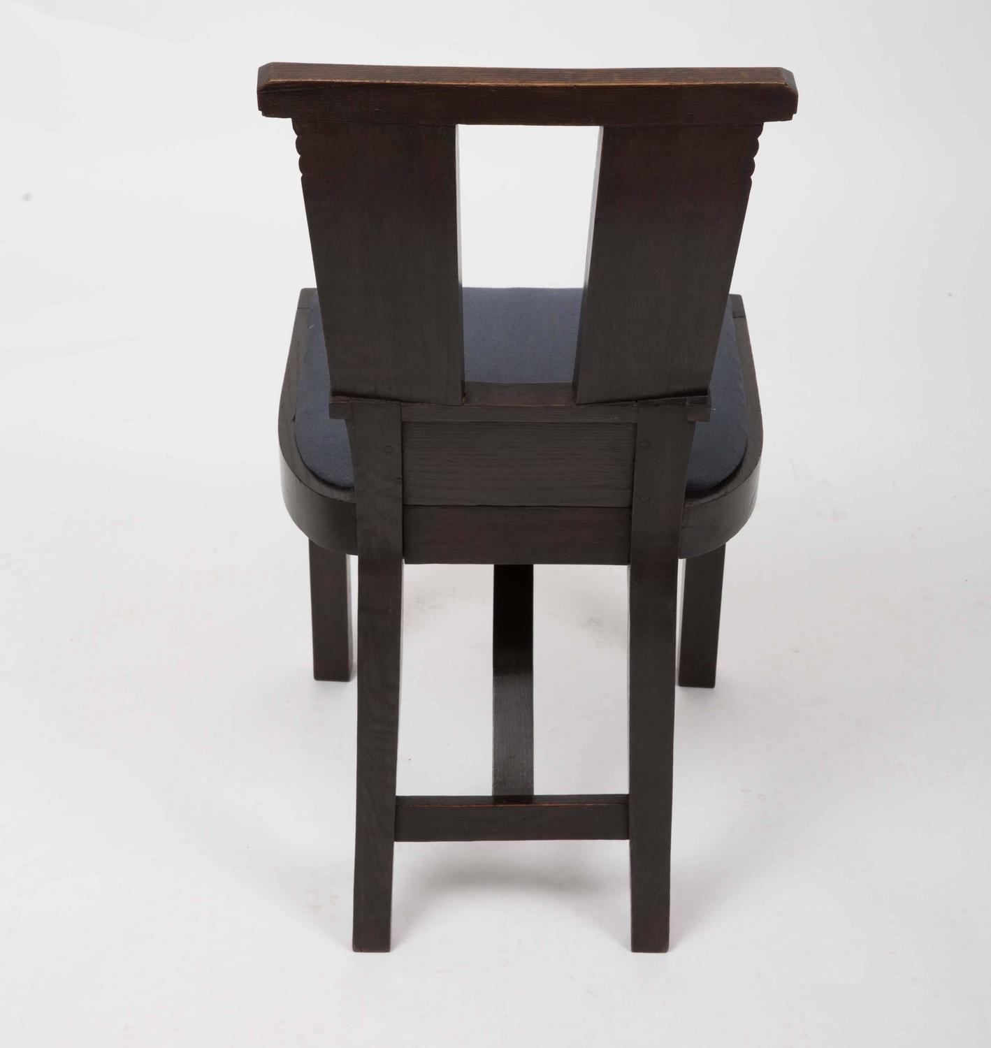 Set of six upholstered dining chairs by charles dudouyt for Upholstered dining chairs for sale