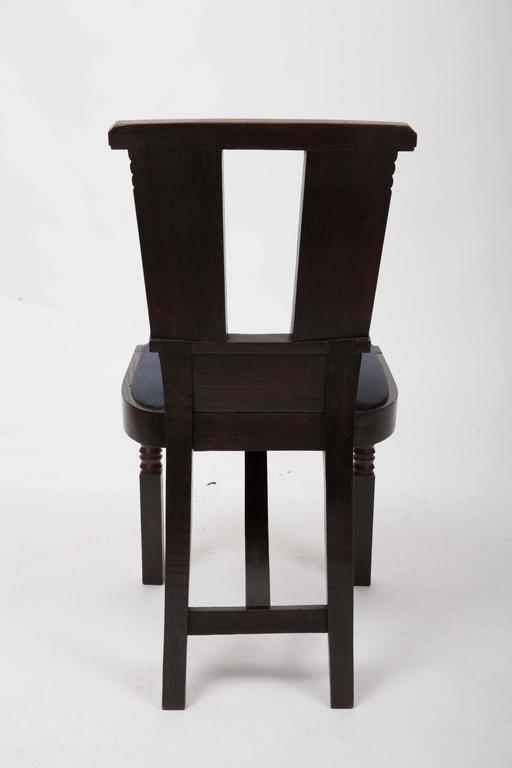 Set of Six Upholstered Dining Chairs by Charles Dudouyt 5