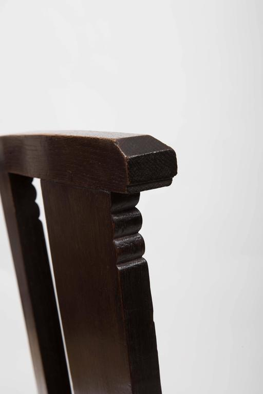 Set of Six Upholstered Dining Chairs by Charles Dudouyt 8