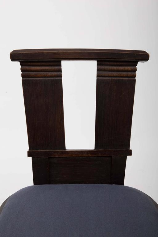 Set of Six Upholstered Dining Chairs by Charles Dudouyt For Sale 3