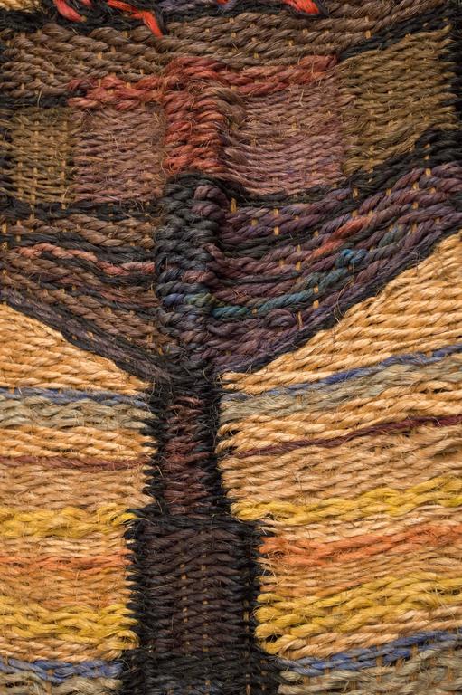 Framed Hand-Loomed Jute Weaving, circa 1970 4