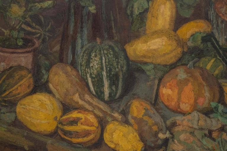 Painted Magnificent Autumnal Still Life by Dutch Artist Barbara van Houten For Sale