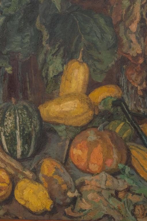 Magnificent Autumnal Still Life by Dutch Artist Barbara van Houten In Good Condition For Sale In San Francisco, CA