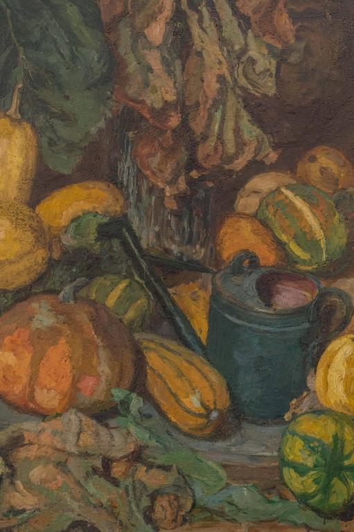 Early 20th Century Magnificent Autumnal Still Life by Dutch Artist Barbara van Houten For Sale