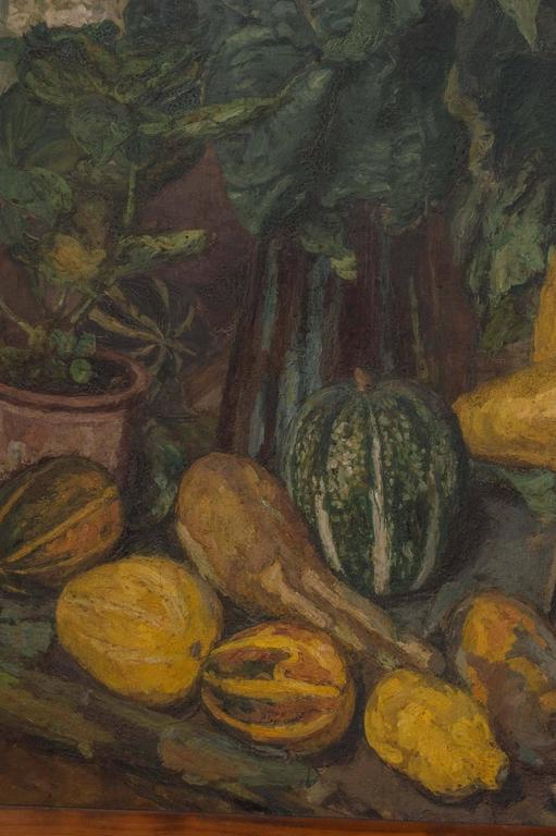 Canvas Magnificent Autumnal Still Life by Dutch Artist Barbara van Houten For Sale