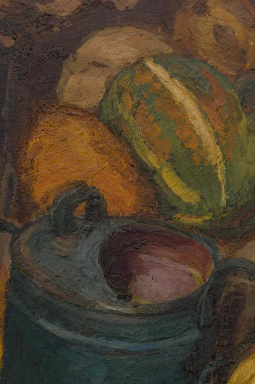 Magnificent Autumnal Still Life by Dutch Artist Barbara van Houten For Sale 2