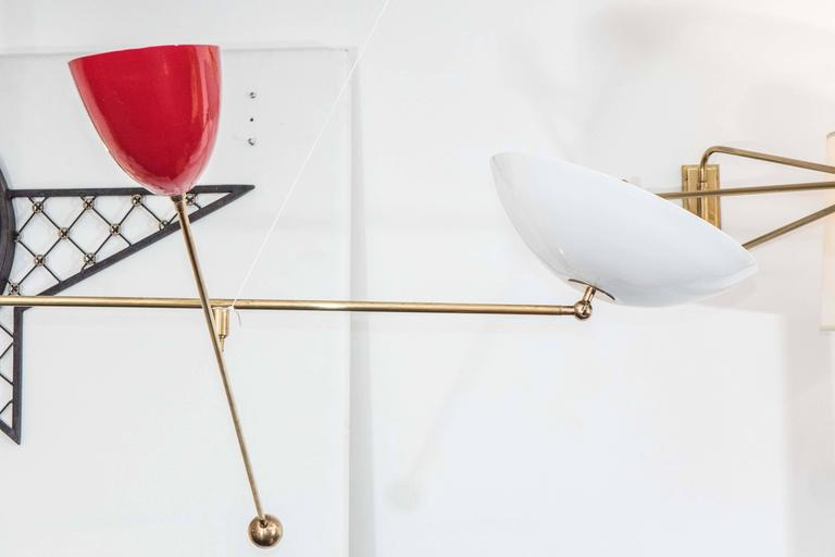 Mid-Century Modern Counter Balance Chandelier, the style of Angelo Lelli For Sale