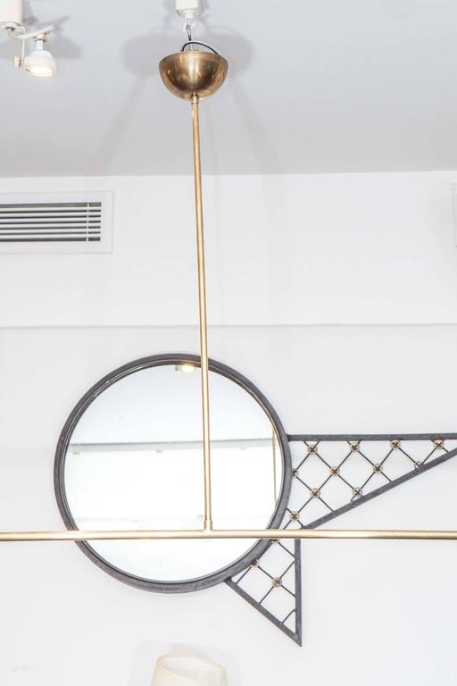 Counter Balance Chandelier, the style of Angelo Lelli For Sale 2