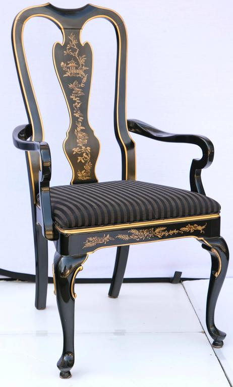 set of six drexel heritage black laquered chinoiserie stunning drexel heritage dining room chairs images