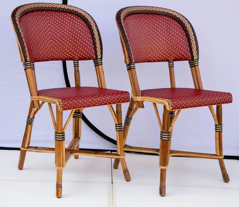 Superbe Fantastic Authentic Set Of Four Maison Drucker Bastille Bistro Chairs.  Maison Drucker Created Furniture In
