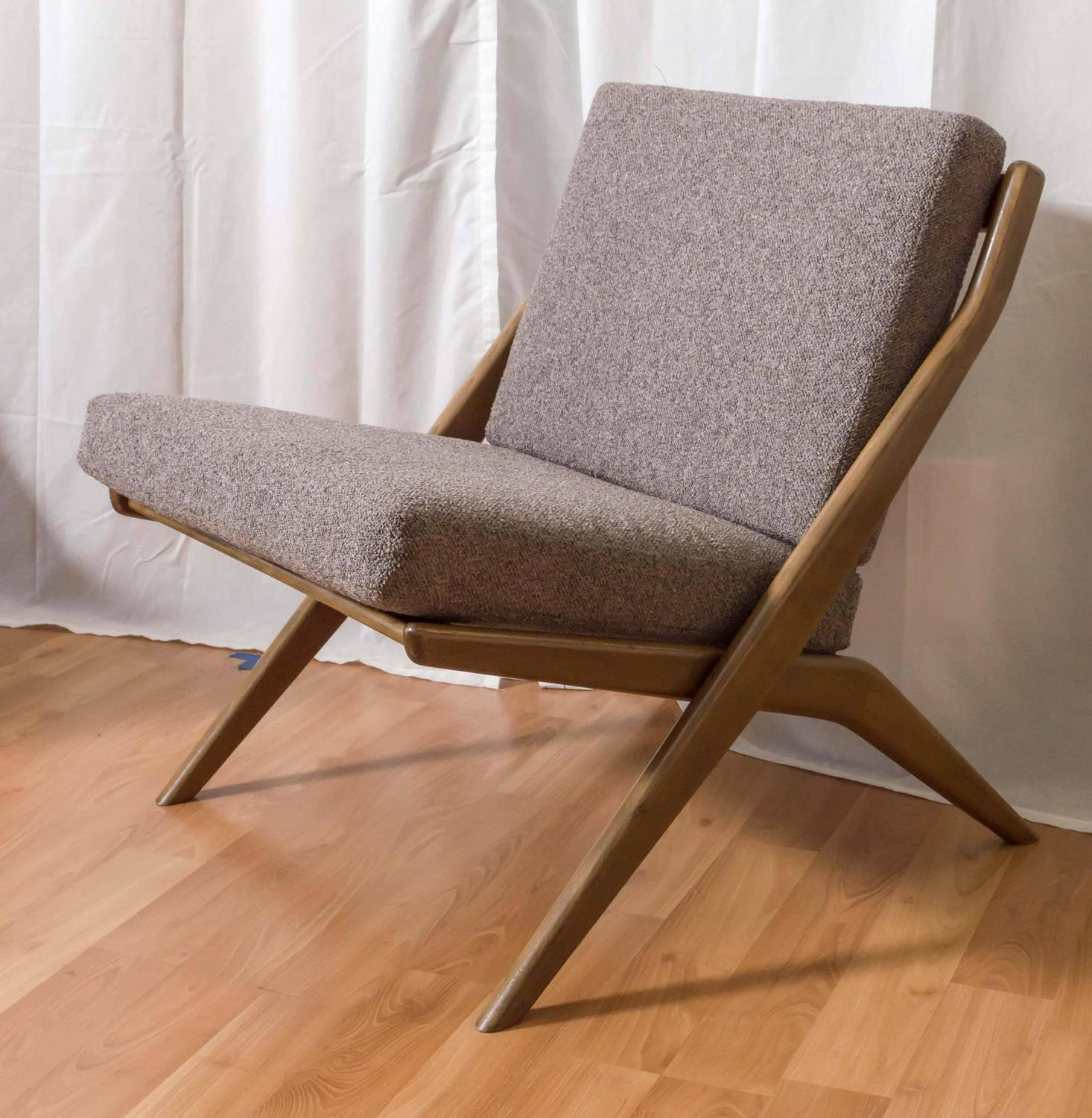 """Pair of Folke Ohlsson for DUX """"Scissor"""" Lounge Chairs"""