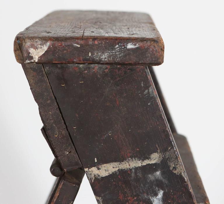 Rustic Seven Step Wooden Ladder 6