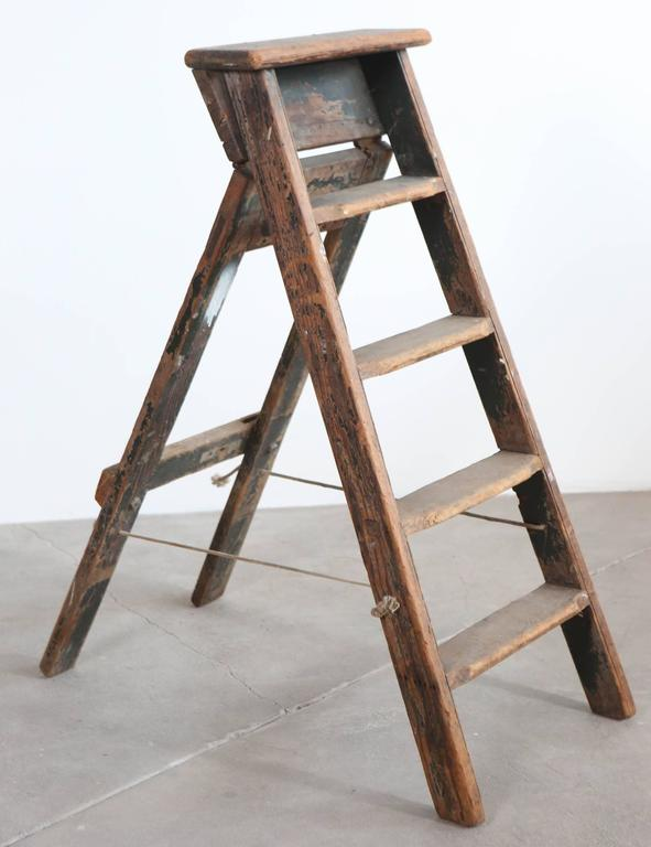 Rustic Five-Step Wooden Ladder 2