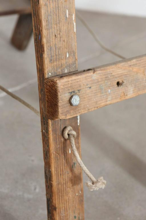 Rustic Five-Step Wooden Ladder For Sale 4
