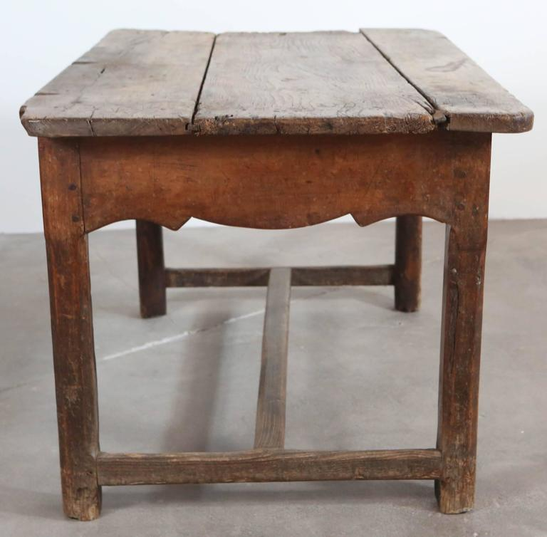 19th Century Rustic Primitive French Table For Sale