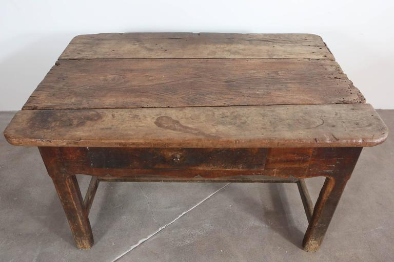 Rustic Primitive French Table For Sale 4