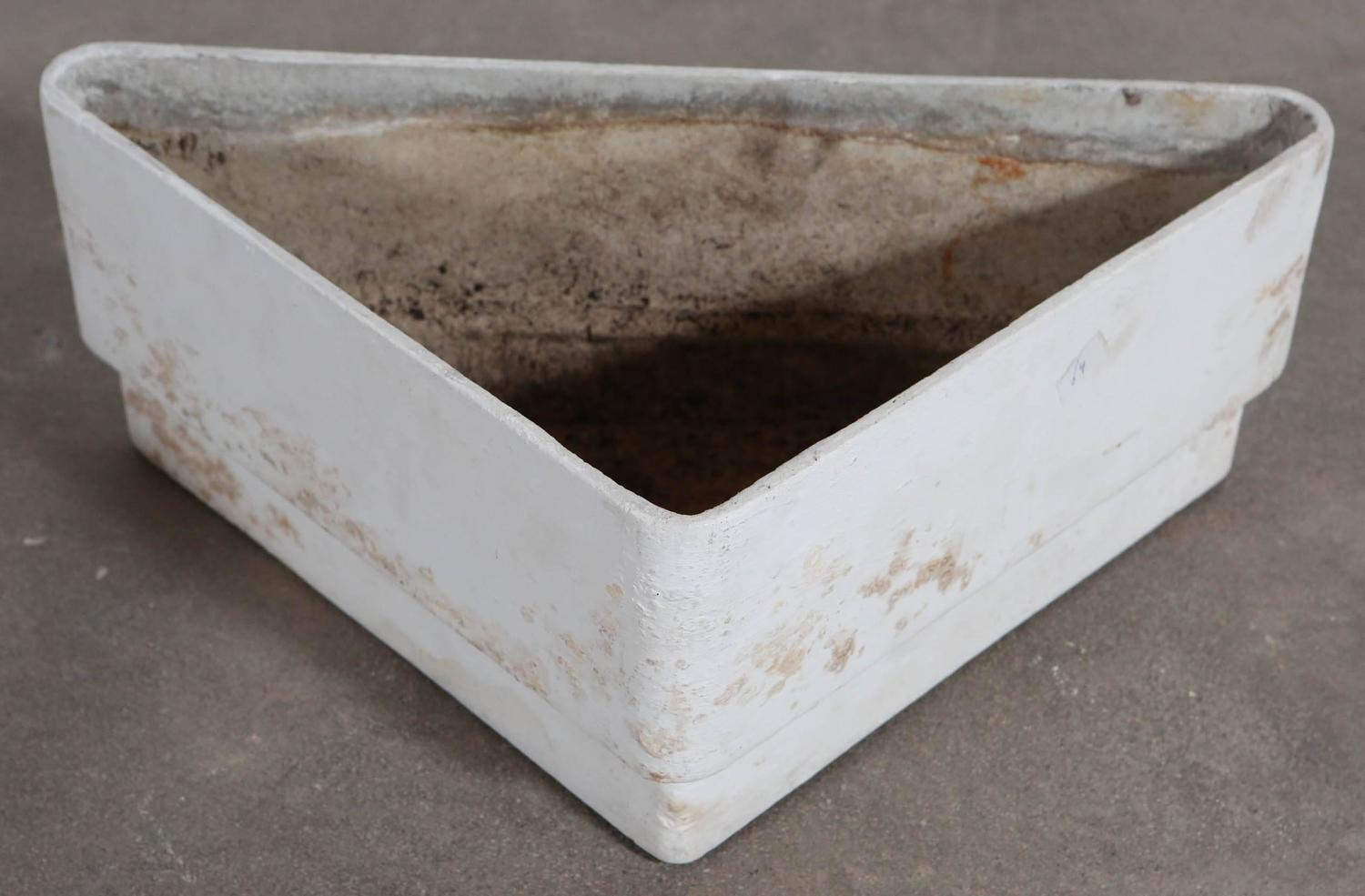 Vintage Triangle Plaster And Concrete Planter At 1stdibs